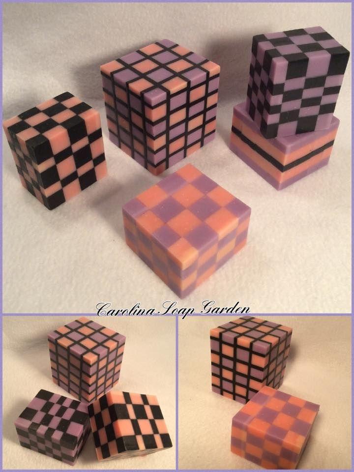 "cold-process ""Checkerboard Soap Cubes"", by Carolina Soap Garden"