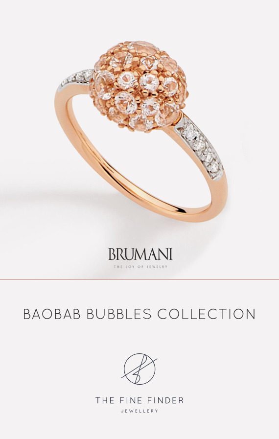 18k rose gold ring, hand engraved with diamonds and white topaz. Delicate and full of sparkle!