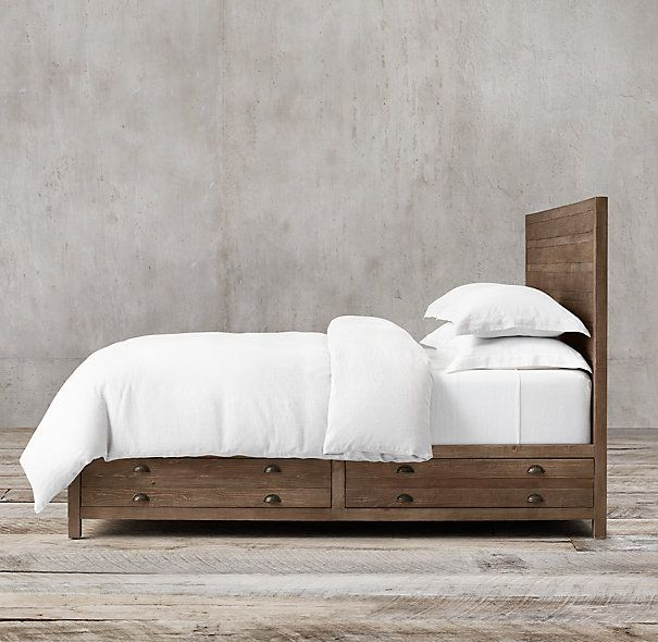 storage bed without footboard