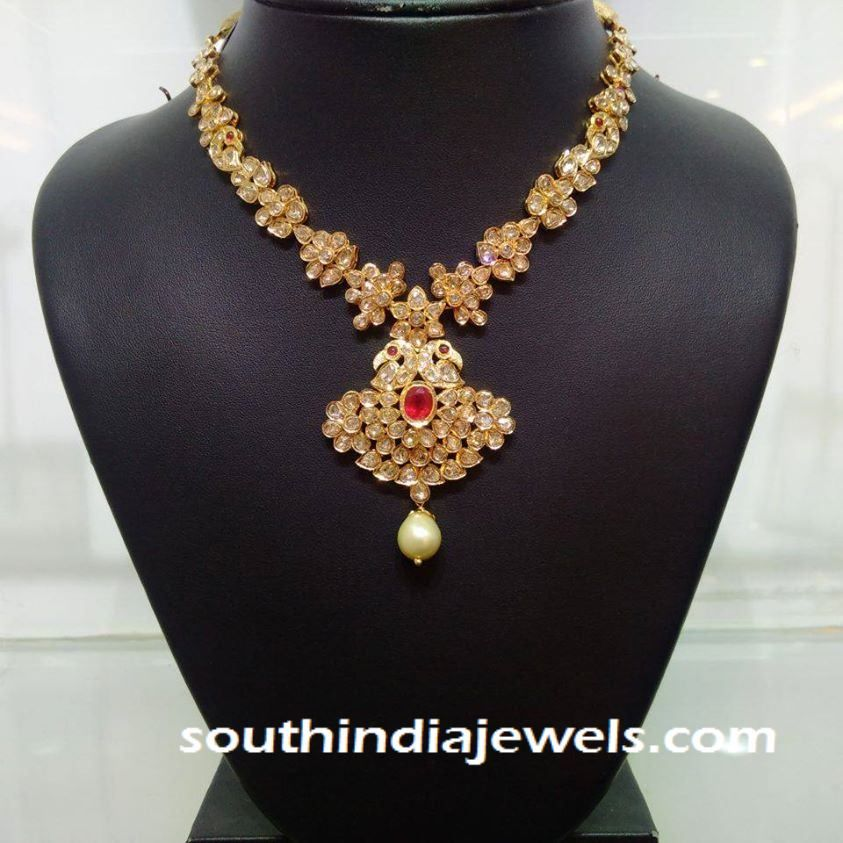 gold necklace designs jewellery weight light models