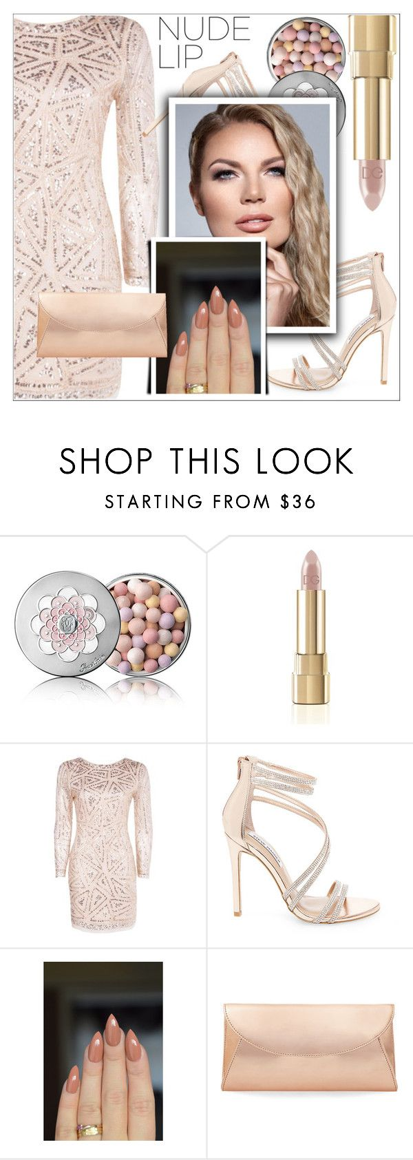 """PERFECT NUDE LIP"" by shoaleh-nia ❤ liked on Polyvore featuring Guerlain, Dolce&Gabbana, Boohoo and Steve Madden"