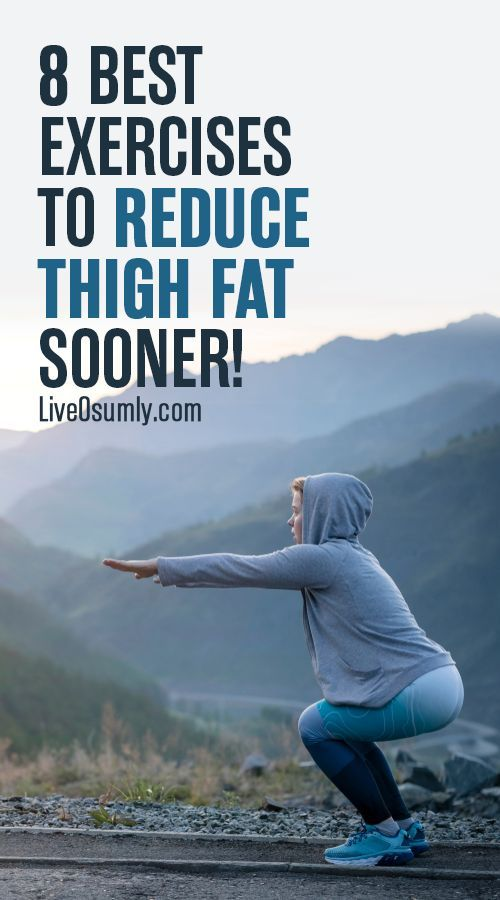 How to Lose Thigh Fat: Getting rid of thigh fat can only be done successfully with a combination of...