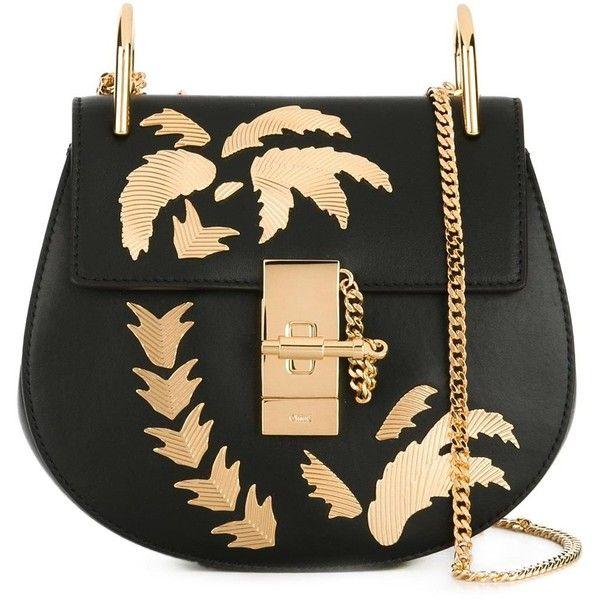 Chloé Drew Shoulder Bag ($2,290) ❤ liked on Polyvore featuring bags, handbags, shoulder bags, shoulder handbags, shoulder hand bags, chain strap purse, palm tree purse and chain shoulder bag