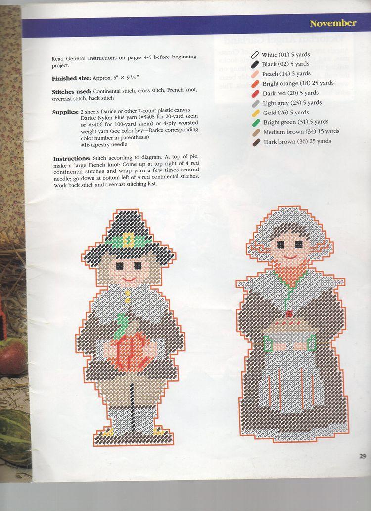 Thanksgiving Turkey Decorations Canvas Designs Needlepoint Patterns Plastic Crafts Perler Beads Pilgrim