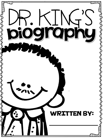 write a biography all about Dr. King....great for
