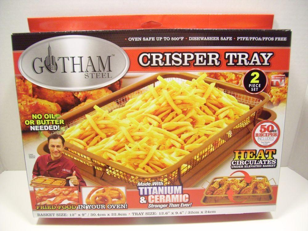 Gotham Steel Crisper Copper Tray As Seen On Tv Frying Cookware Bakeware Kitchen Gothamsteel