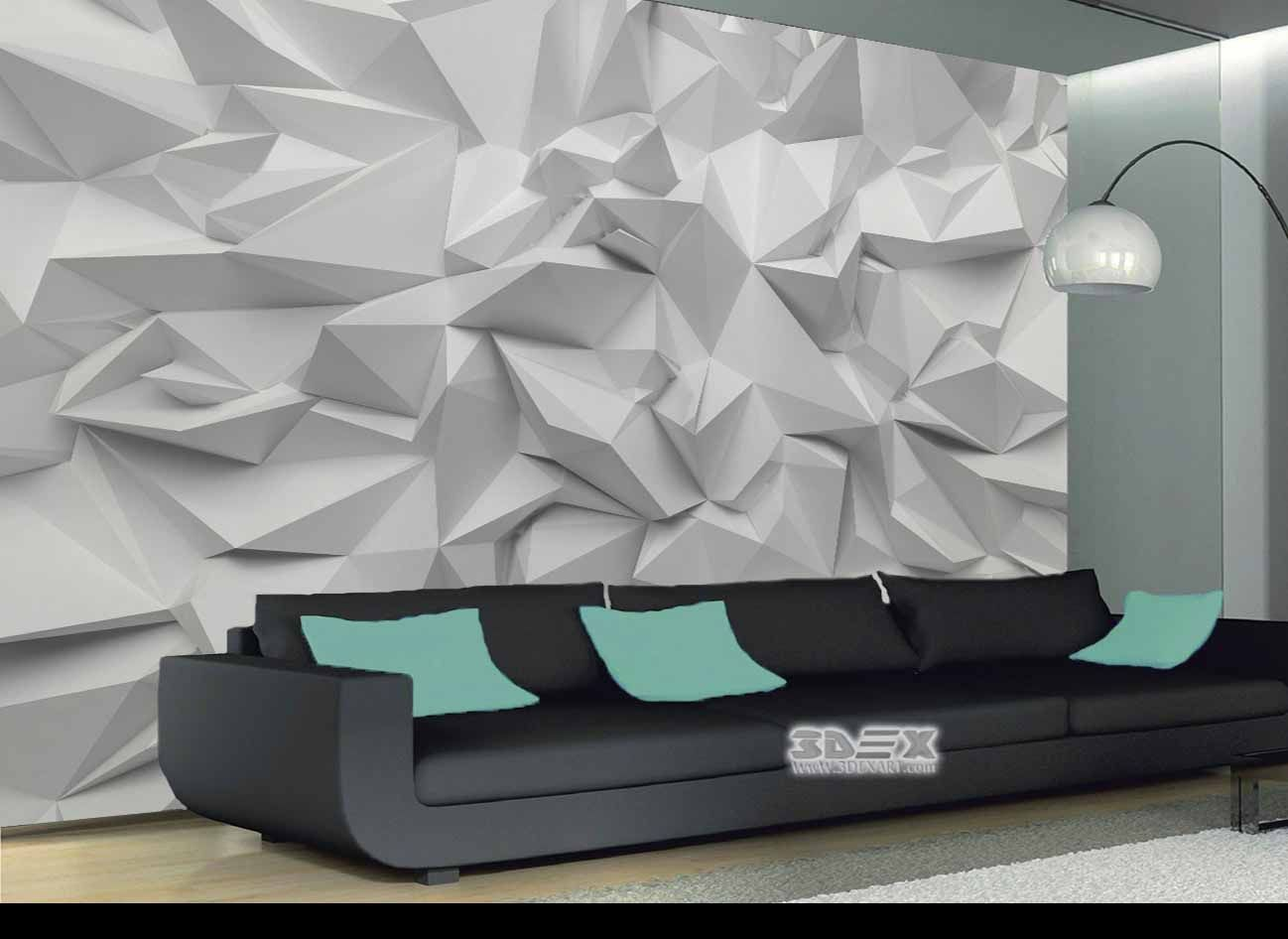 Black and white 3d wallpaper designs for living room walls new options and ideas to decorate your interior with 3d wallpaper for home walls