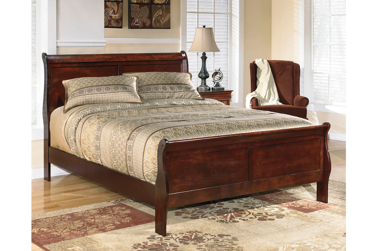 Alisdair Queen Sleigh Bed With 8 Innerspring Mattress Ashley Furniture Homestore King Sleigh Bed Queen Sleigh Bed Bed Furniture