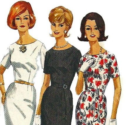 1960s Simplicity 5324 Misses Jewel Neck Sheath Dress Pattern Proportioned Womens Vintage Sewing Pattern Size 12 Bust 32. $4.00, via Etsy.