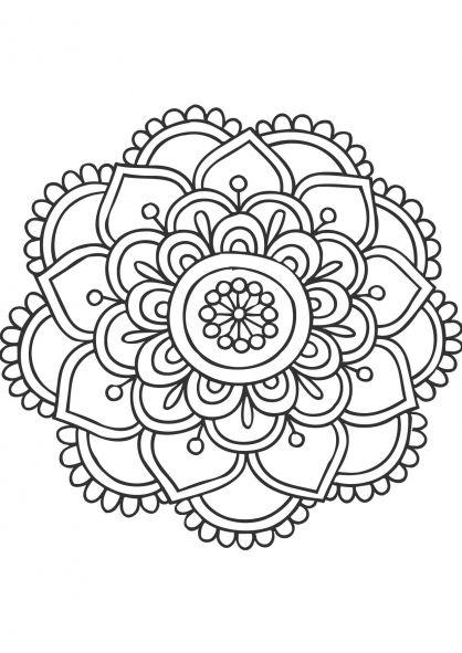 Coloriage mandala fleur bontot coloriage tattoo - Mandala fleur ...