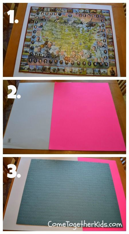 how to preserve a puzzle without glue tip