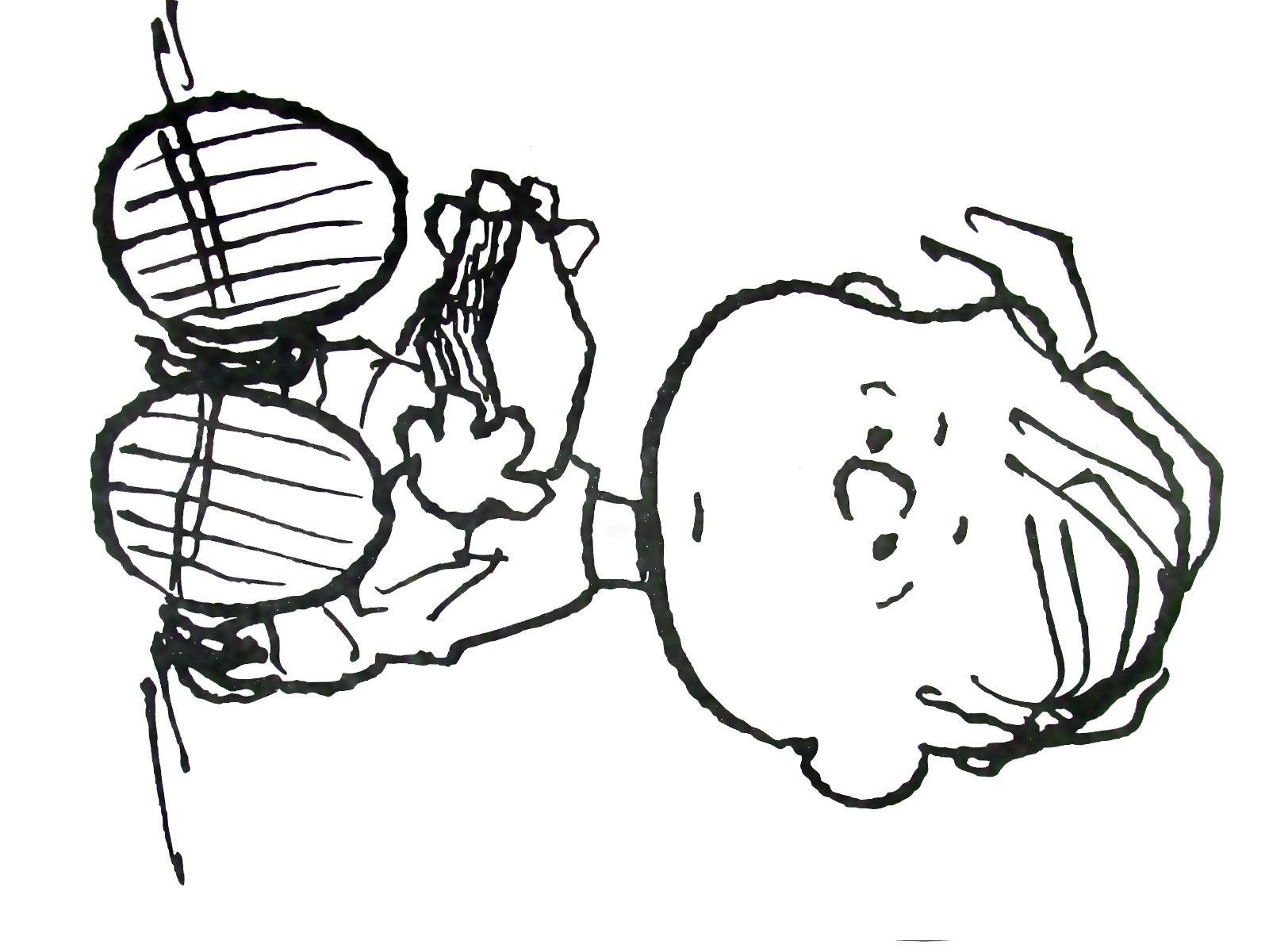 linus peanuts gang coloring book page printable - Peanuts Coloring Book