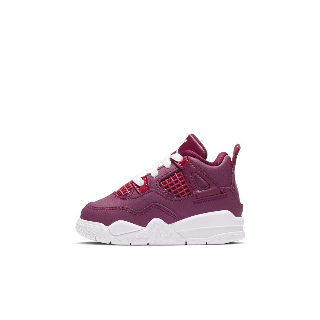 meet 15b2f 58dd3 Jordan 4 Retro Baby Toddler Shoe Size 5C (True Berry)