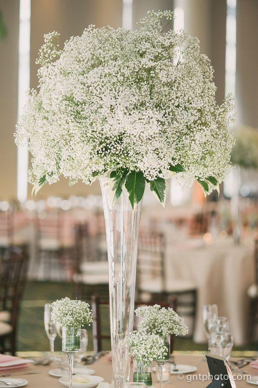Large Baby S Breath Centerpiece Dramatic Centerpieces C Gntphoto Com Flower Centerpieces Wedding Wedding Floral Centerpieces Wedding Table Decorations Diy