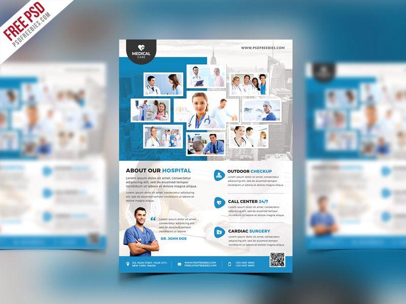 Health Clinic And Hospital Flyer Psd Template Psdfreebies Com