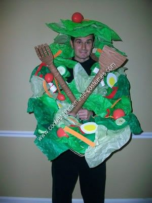 Homemade Salad Bowl Original Costume I Made This For My Boyfriend James And It Was A Hit At