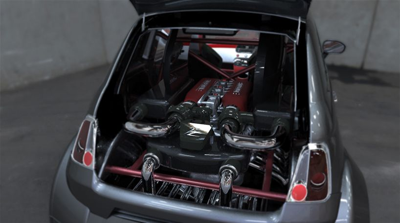 550 Italia Con Motor V8 Ferrari Fiat 500 Fiat Ferrari