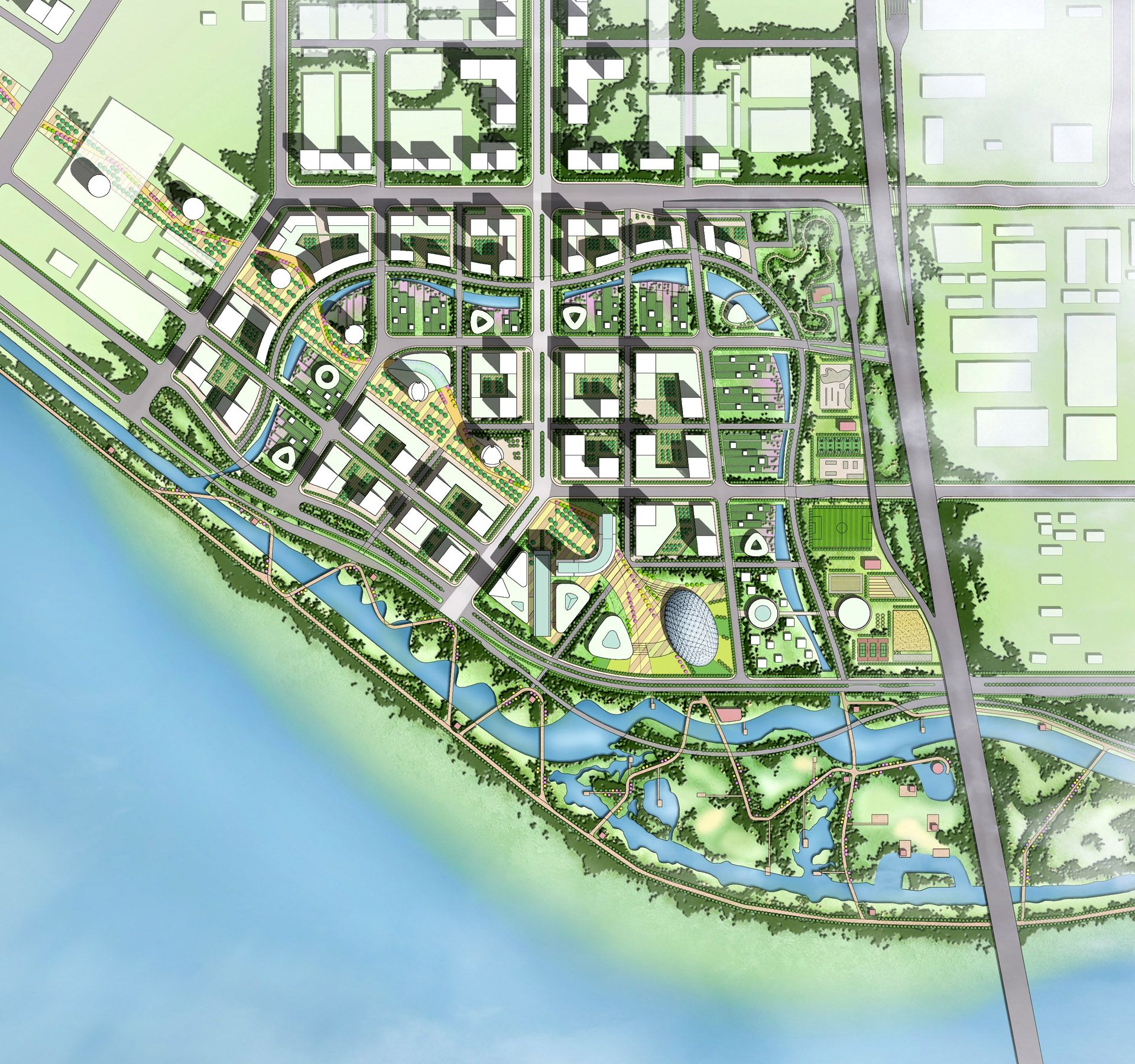 Xiasha eco business park wins 2013 aiacc award for urban for Planner design