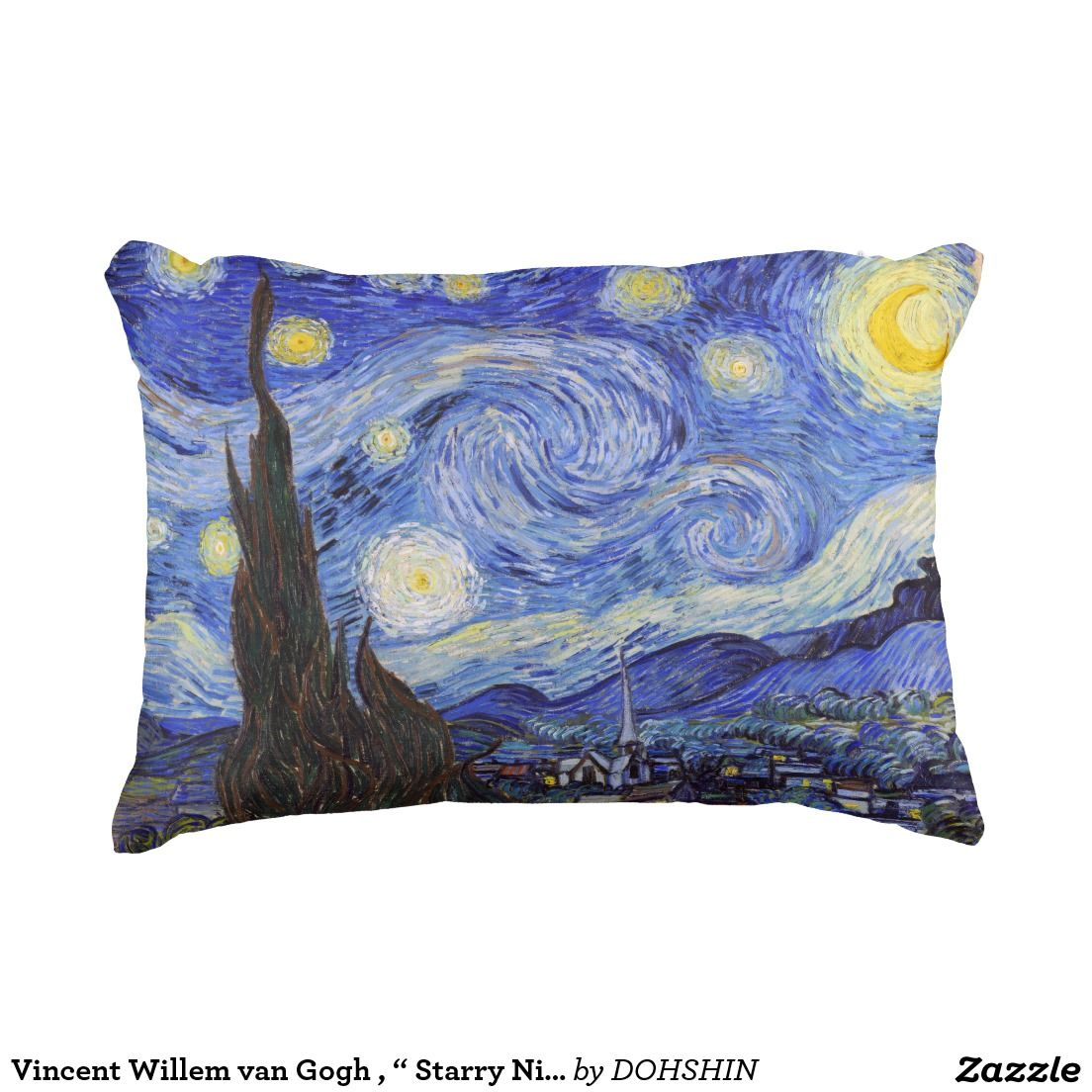 "Vincent Willem van Gogh , "" Starry Night "" アクセントクッション"