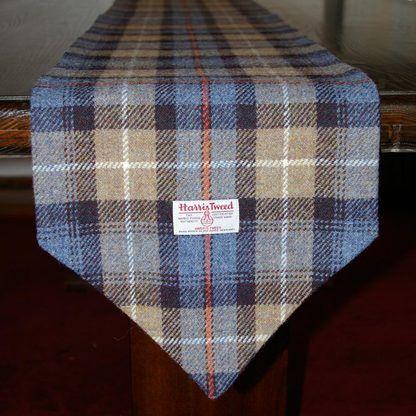 Ancient MacLeod Tartan Table Runner   Harris Tweed