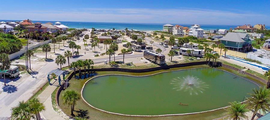 Drone view of Camp Gulf RV Park in Destin, Florida   Rv ...