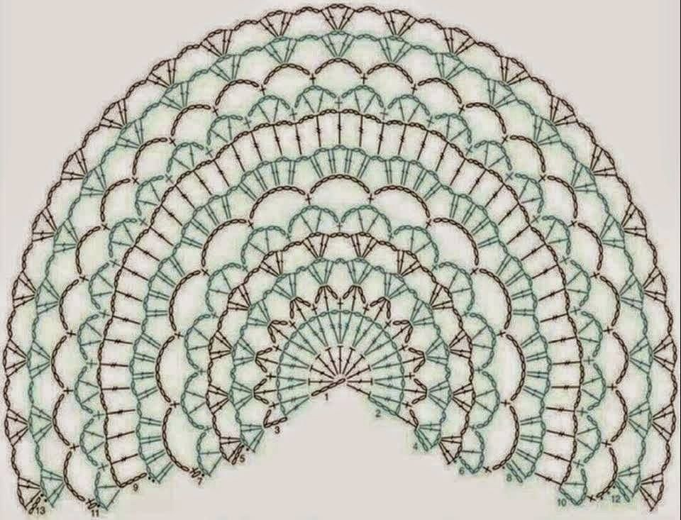 Halve Maan Sjaal Diagrammen Pinterest Crochet Shawl Crochet
