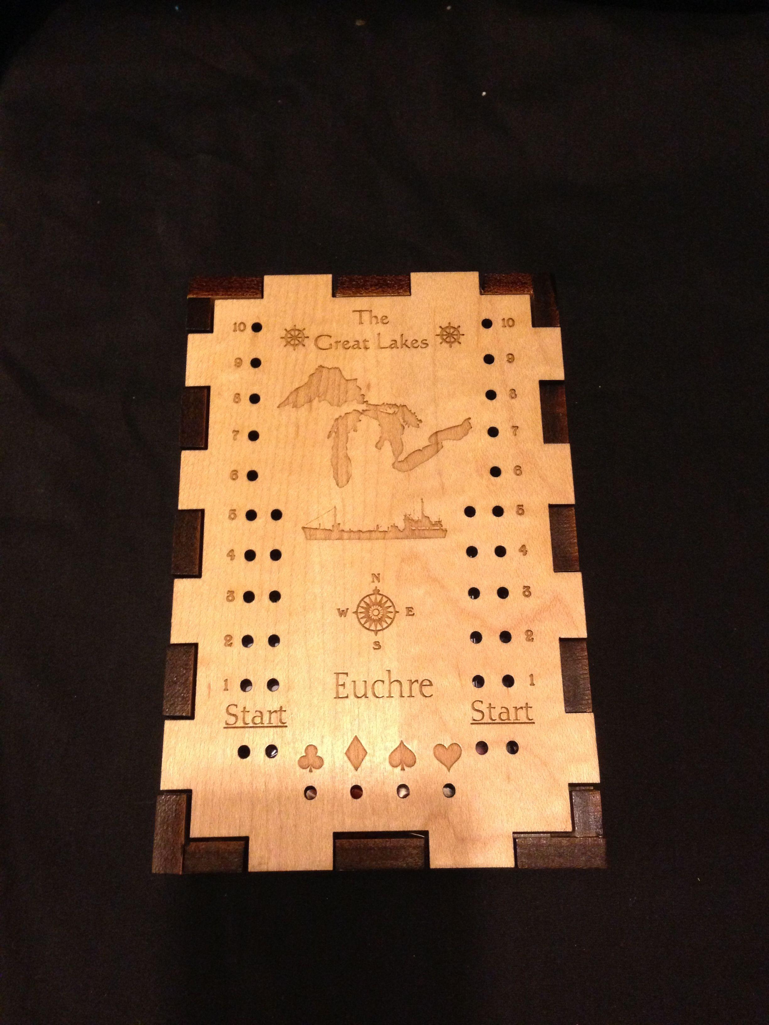 Neat Michigan made Euchre scoring boards Euchre, Card