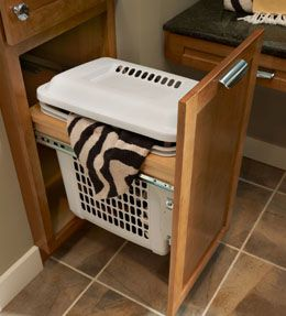 Vanity Hamper Cabinet. A Mom Favorite, This Pullout Hamper Drawer Creates A  No More Excuses Space To Keep Bathrooms Tidy And Towels Off The Floor.