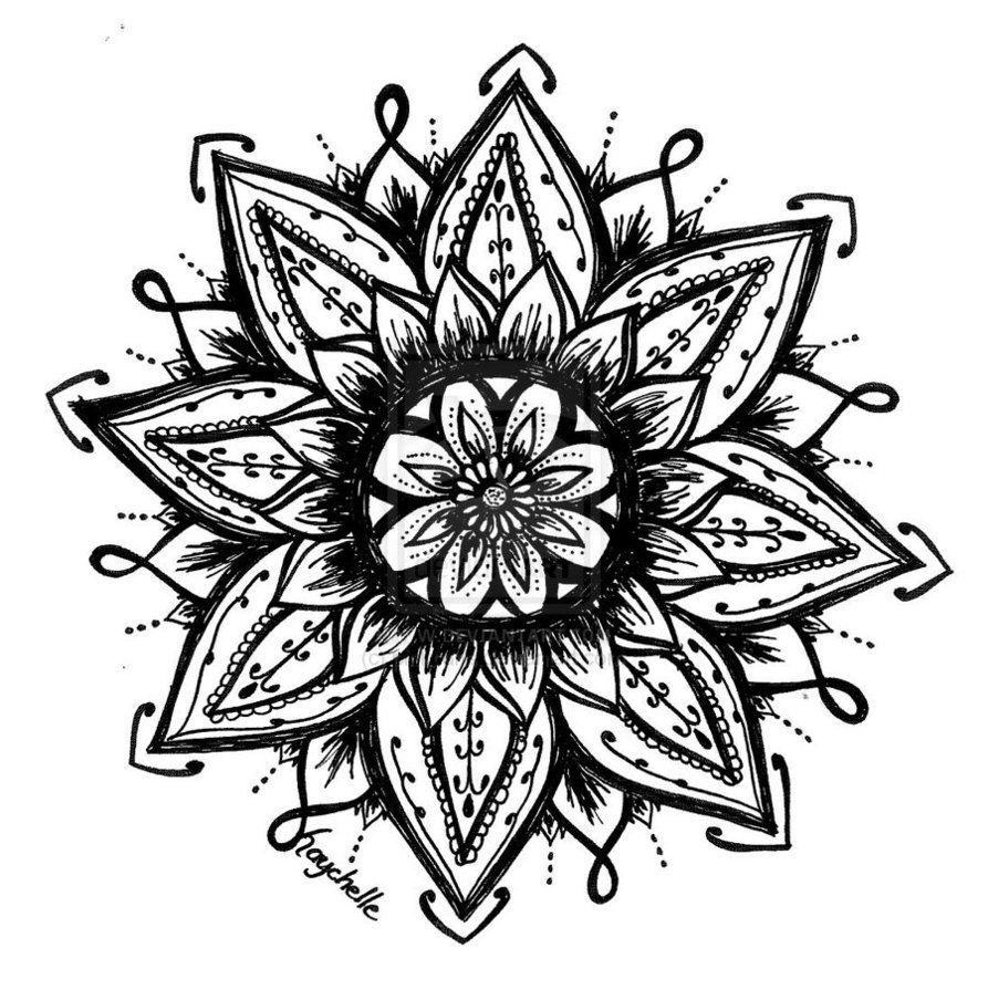 lotus flower drawing tattoo design Flower henna, Lotus