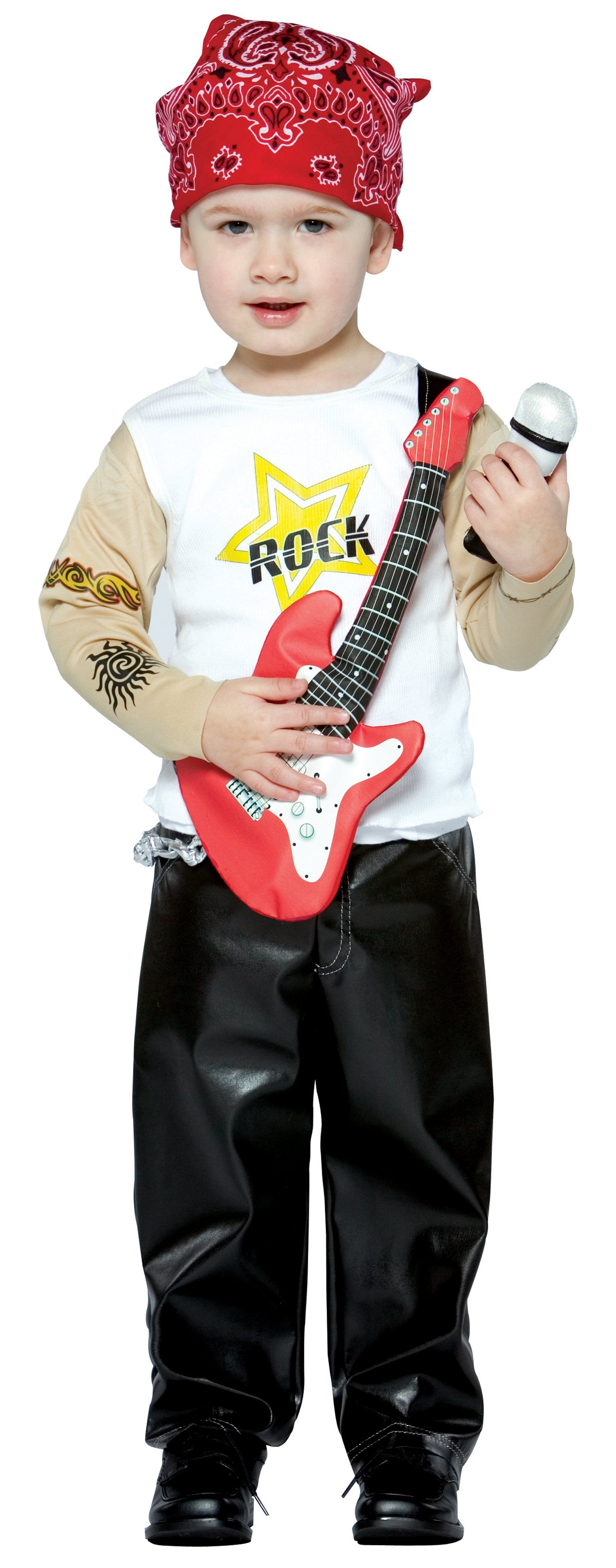 Rock out like the stars of hair metal in this kid size 80's rock ...