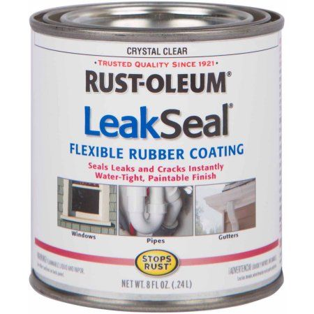 Rust-Oleum LeakSeal Flexible Rubber Coating, 1/2 pt, Clear | Products