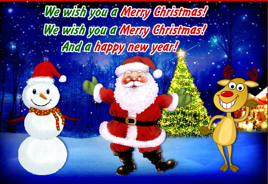 30 Merry Christmas and Happy New Year 2020 Greeting Card ...