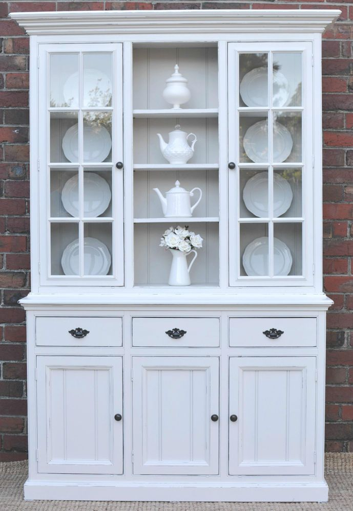 French Provincial Country Hamptons Buffet And Hutch Sideboard White Pine