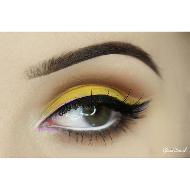 Yellow eyeshadow look ♡