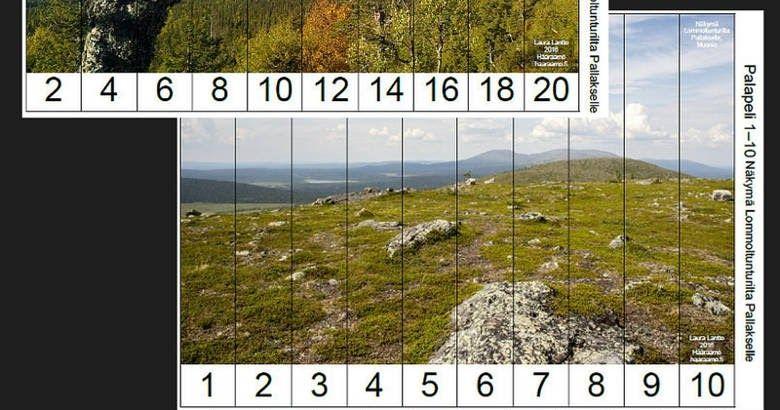 Lukujonopalapelejä esi- ja alkuopetukseen Tunturi-Lapin maisemista (Free Printable: Skip Counting Puzzles)