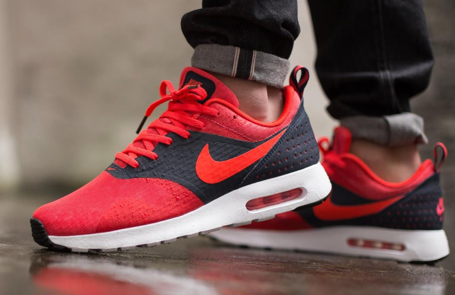 nike air max tavas prm gym red\/white jordan