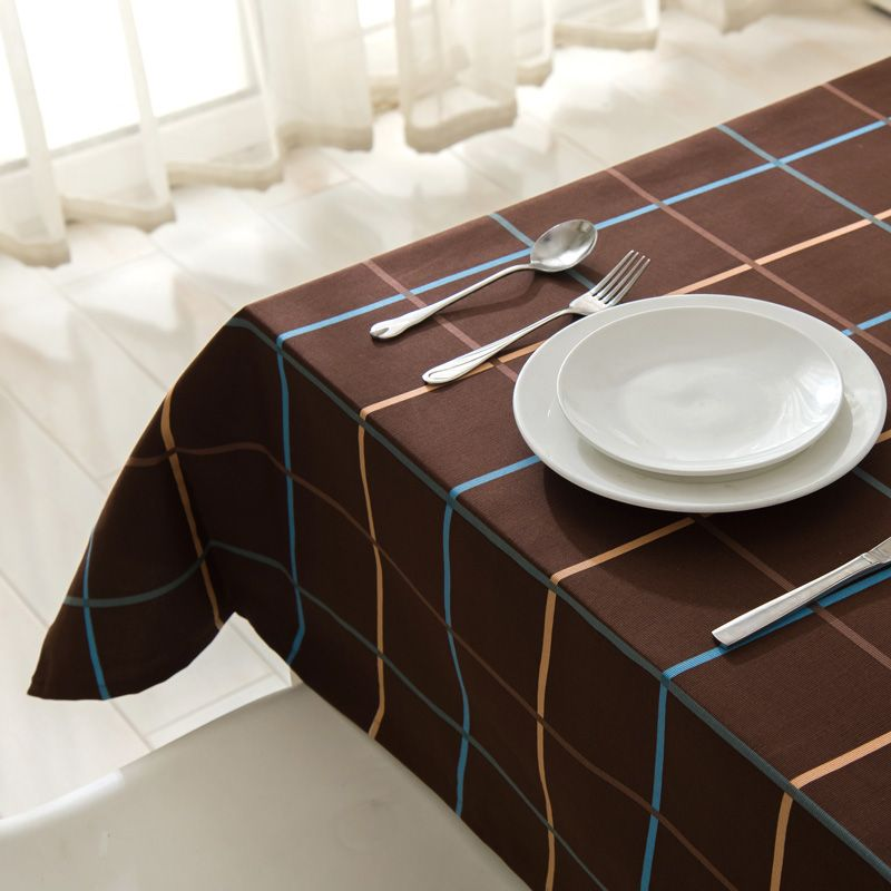 Elegant Prague Simple Coffee Table Cloth Round Plaid PVC Nappe TableCloth Plastic  Waterproof Oilproof With Lace Home