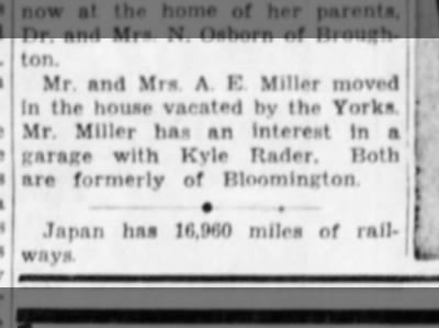 Miller, Albert E: Moving
