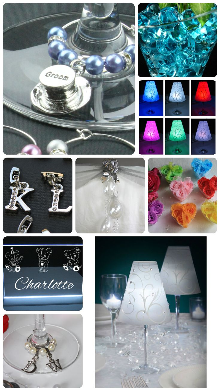 Wedding Table Decorations and Wedding Favours that will make your special day sparkle