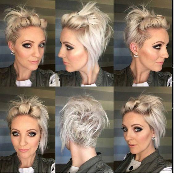 5 Coiffures Hyper Faciles Rapides Et Pratiques Pour Cheveux Courts Cheveux Courts Coiffures Cheveux Courts Coiffure Courte