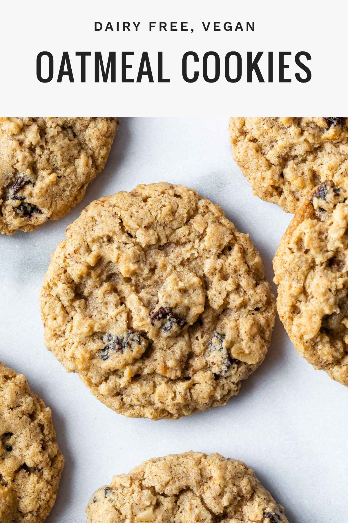 The Best Vegan Oatmeal Cookies Recipe Simply Whisked Recipe In 2020 Vegan Oatmeal Cookies Vegan Oatmeal Dairy Free Recipes