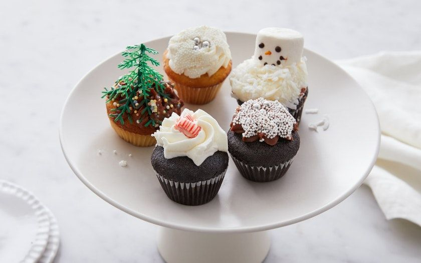 Assorted mini holiday cupcakes black jet baking co sf