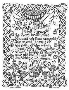 Hail Mary Catholic Coloring Page