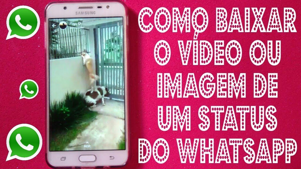 Como Baixar Um Video Ou Imagem De Um Status Do Whatsapp Sem App Sem Ro Com Imagens Status App Baixada
