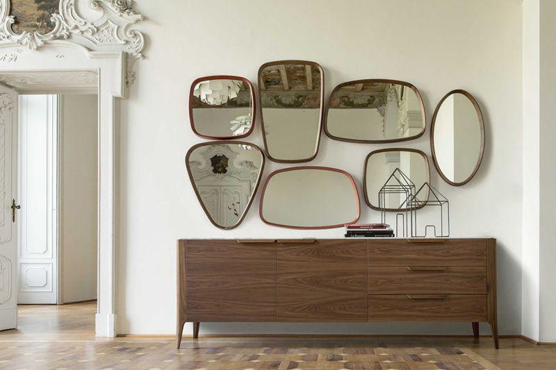 Porada Luxury Italian Furniture Sideboard Stile Vintage | Arredi Retro|  Moderno #Specchio #Madia