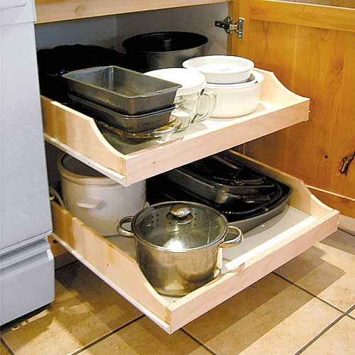 do it yourself ideas shop roll out shelves install and paint yourself getorganized on do it yourself kitchen organization id=44232