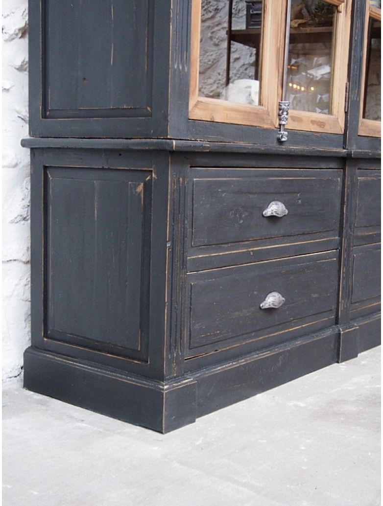 Bibliotheque Vintage Noire Bibliotheque Refaire Les Meubles Mobilier De Salon
