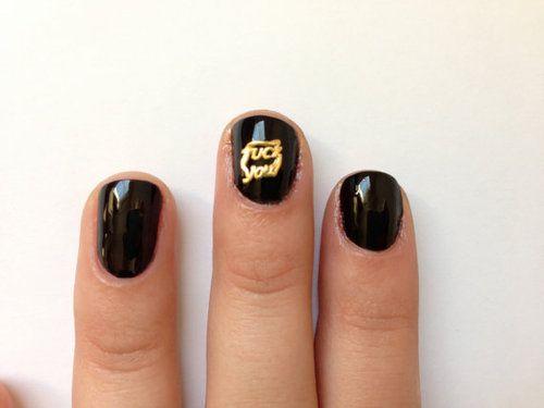 Tee hee! V. naughty nails!