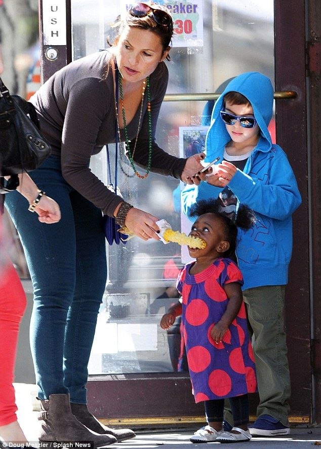 Mariska Hargitay With Her Adorable Daughter And Son Mariska