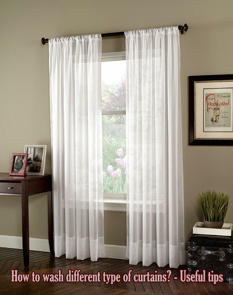 How To Wash Different Type Of Curtains?   Useful Tips ~ Home Decors